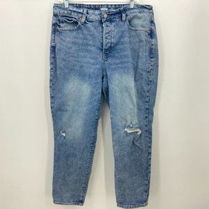 Old Navy Button Fly Jeans 14 OG Straight High Rise